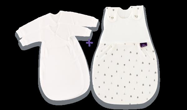 Schlafsack-Set Zuhause Babyschlafsack-Set mit neutralem Design