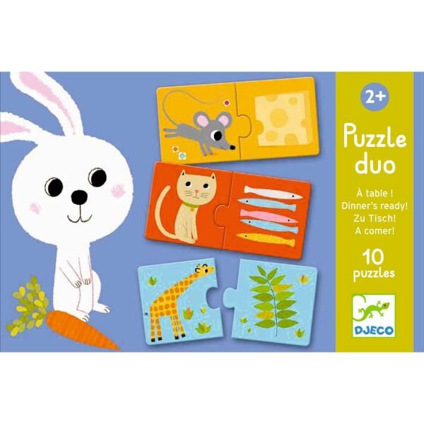 Lernspiel - Puzzle duo/trio: Was esse ich ?