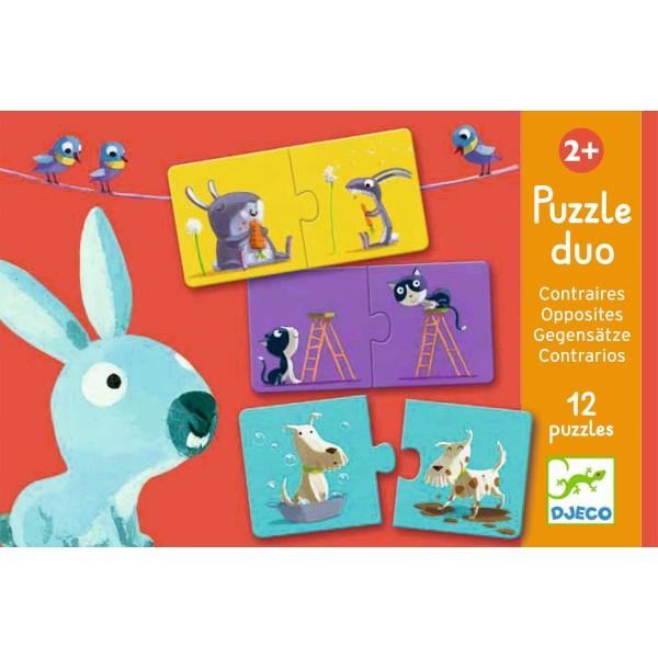 Lernspiel - Puzzle duo/trio: Gegenteile